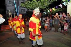 Фестиваль Cau Ngu в Вьетнаме, который также вызван фестивалем Кита, самый большой фестиваль для рыболова который требует для wind Стоковое Изображение