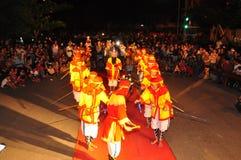 Фестиваль Cau Ngu в Вьетнаме, который также вызван фестивалем Кита, самый большой фестиваль для рыболова который требует для wind Стоковые Изображения RF