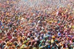 Фестиваль de los colores Holi на Барселоне Стоковые Изображения