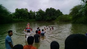 Фестиваль Ganpati (Ganesha) Стоковые Фотографии RF