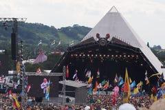 Фестиваль Glastonbury искусств стоковые изображения