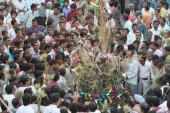 Фестиваль Holi в деревне, Раджастхане Индии Стоковая Фотография RF
