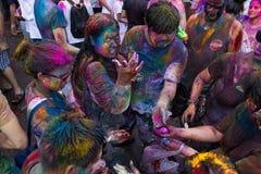 Фестиваль 2013 Holi в Куалае-Лумпур, Малайзии Стоковое Изображение RF