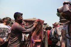 Фестиваль Holi в Непале стоковое изображение rf