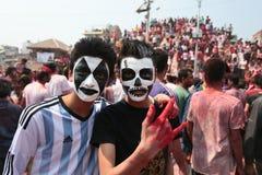 Фестиваль Holi в Непале стоковая фотография