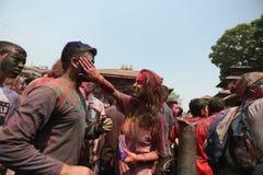 Фестиваль Holi в Непале стоковые изображения