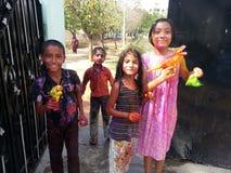 Фестиваль Holi Индии Стоковые Изображения RF