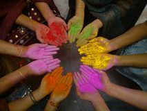 Фестиваль Holi- цветов Стоковые Изображения RF