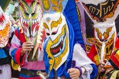Фестиваль Khon животиков Phi самая большая привлекательность к в противном случае сонной деревне сельского хозяйства Дэн Sai Стоковые Фото