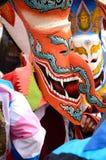 Фестиваль Khon животиков Phi самая большая привлекательность к в противном случае сонной деревне сельского хозяйства Дэн Sai Стоковые Изображения