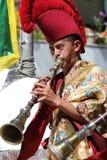 Фестиваль 2013 Ladakh, буддийский монах с традиционным платьем Стоковые Изображения