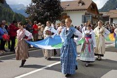 Фестиваль Ladina фольклорный, северная Италия Стоковая Фотография