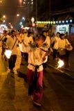 Фестиваль 2014 Loi Krathong в Чиангмае, Таиланде Стоковая Фотография RF