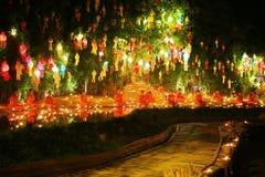 Фестиваль Loy Krathong на лотке Дао Wat Стоковая Фотография
