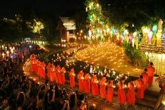 Фестиваль Loy Krathong на лотке Дао Wat Стоковое Изображение RF