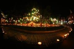 Фестиваль Loy Krathong на лотке Дао Wat Стоковое Фото