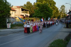 Фестиваль Lukavac 2016 фольклора International 10 Стоковое фото RF