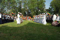 Фестиваль Meskel в Bahir Dar, Эфиопии стоковые изображения rf