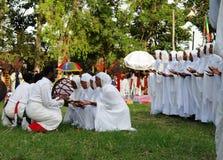 Фестиваль Meskel, Эфиопия стоковое фото