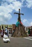 Фестиваль Meskel, Эфиопия стоковые фото