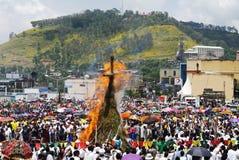 Фестиваль Meskel, Gondar, Эфиопия стоковое изображение