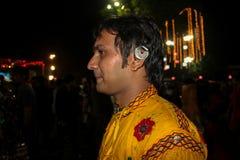 Фестиваль Navratri, Гуджарат, India-5 стоковая фотография rf