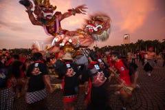 Фестиваль Ogoh-Ogoh, 11-ое марта 2013 Стоковые Изображения RF