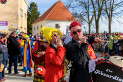 Фестиваль Ptuj масленицы Kurents стоковое фото