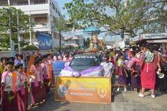 Фестиваль Songkran в стиле Тайск-понедельника Стоковое Фото