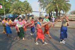 Фестиваль Songkran в стиле Тайск-понедельника Стоковое фото RF