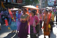 Фестиваль Songkran в стиле Тайск-понедельника Стоковое Изображение