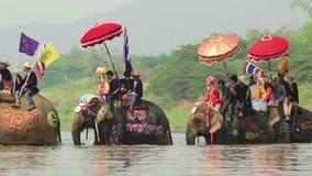 Фестиваль Songkran, Sukuthai Таиланд сток-видео