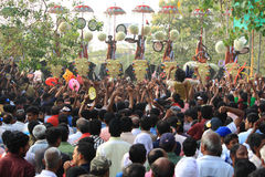 Фестиваль Thrissur Pooram стоковые изображения rf
