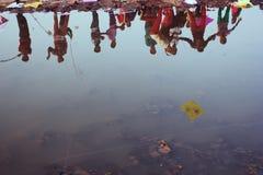 Фестиваль Uttrayan змея/sankranti Гуджарат Makar, Индия Стоковые Изображения RF