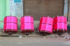 Фестиваль Uttrayan змея/sankranti Гуджарат Makar, Индия Стоковая Фотография RF
