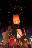 Фестиваль Yee Peng на провинции Chiangmai, Таиланде Стоковые Изображения RF