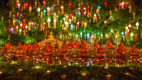 Фестиваль Yee Peng на Wat Phan Дао Стоковые Изображения