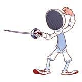 Фехтовальщик с рапирой Стоковое Изображение RF