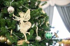 Фея рождества золота Стоковое Фото