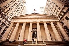 Федеральный Hall в New York City Стоковое Изображение