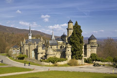 фе замока средневековая Стоковое Изображение