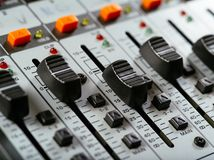 Федингмашины студии звукозаписи стоковые фото