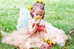 фе ребенка одетьнная costume стоковая фотография rf