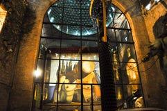 ФИГЕРАС, ИСПАНИЯ 6-ОЕ АВГУСТА: Стеклянный купол музея Dali на 6,2009 -го августа в Каталонии, Испании. Театр и музей Dali a Стоковое Фото