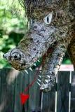 Фигурная стрижка кустов дракона Стоковая Фотография