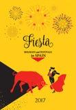 Фиесты Испания иллюстрация штока