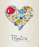 Физика в форме сердца иллюстрация вектора
