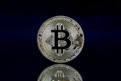 Физическая версия Bitcoin, новых виртуальных денег Стоковые Изображения RF