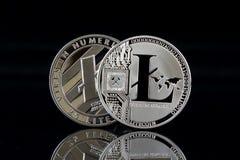 Физическая версия Litecoin, новых виртуальных денег Стоковые Изображения RF