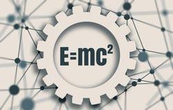 Физическая формула равнозначности массы и энергии Стоковые Фото